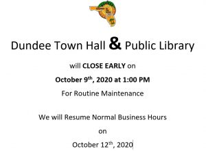 Town Hall & LIbrary Early Closure