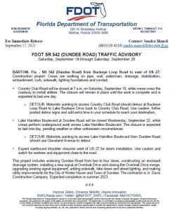 FDOT Traffic Advisory